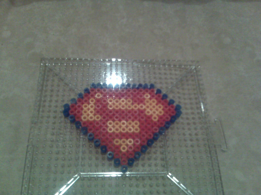 perler superman logo by katamariarcher