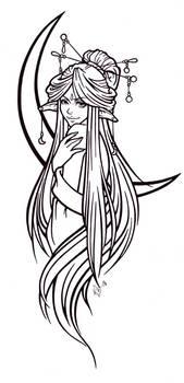 Luna Tattoo Lineart