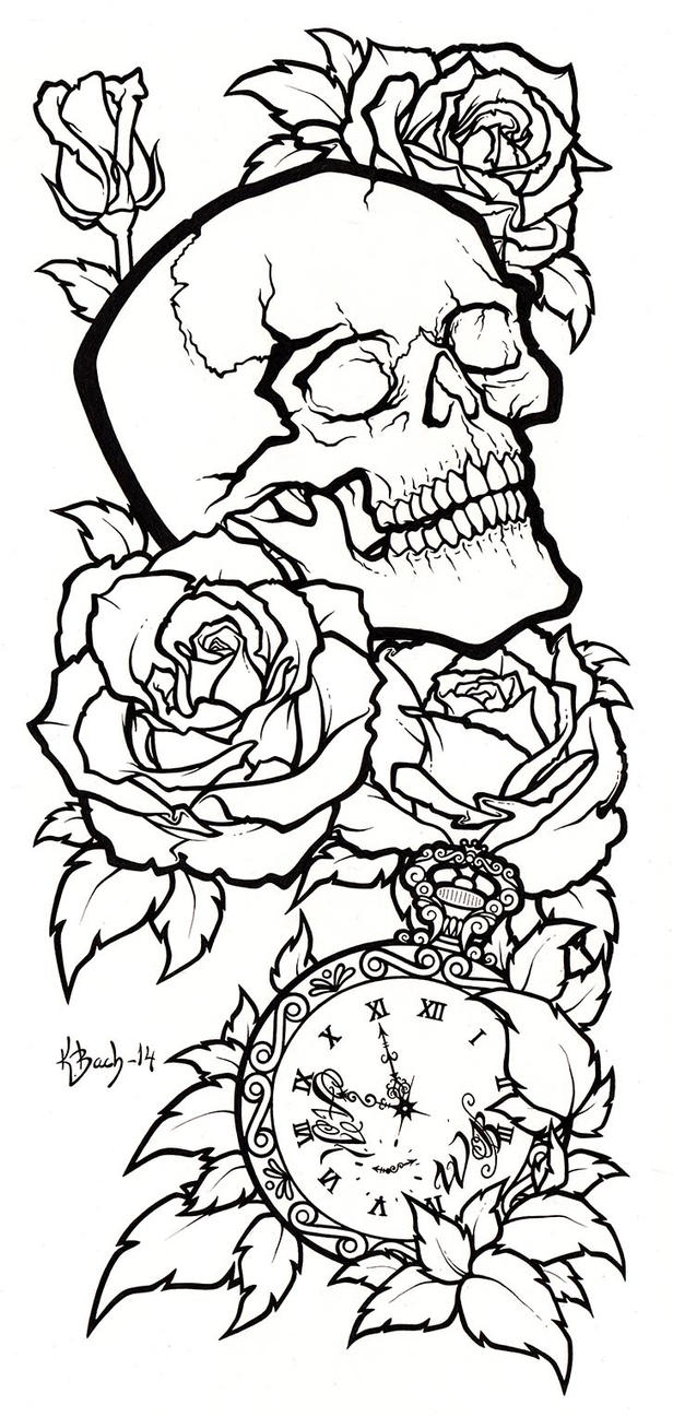 Line Drawing Tattoo Artists : Skull tattoo design lineart by blueundine on deviantart