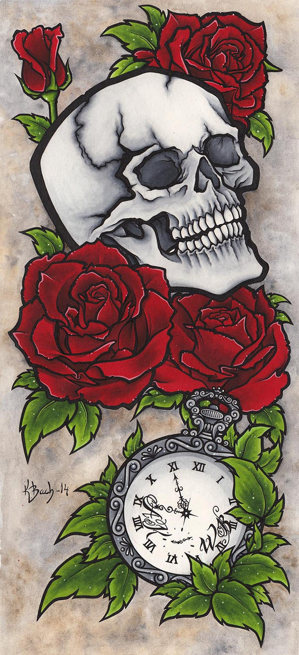 Skull Tattoo Design by BlueUndine