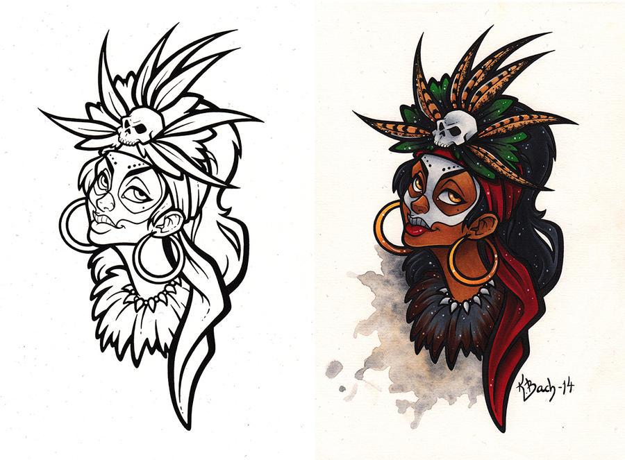 Voodoo Priestess Commission by BlueUndine