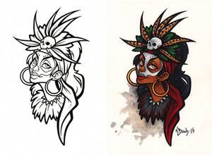 Voodoo Priestess Commission