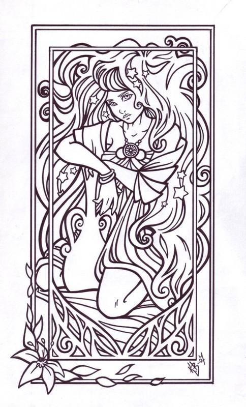 Zodiac Line Drawing : Aquarius lineart by blueundine on deviantart