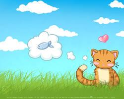 Desktop : Kitty :D by megcowley