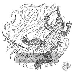Gharial (The Exotic Colouring Book)