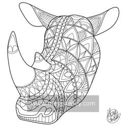 Northern White Rhino (The Exotic Colouring Book)