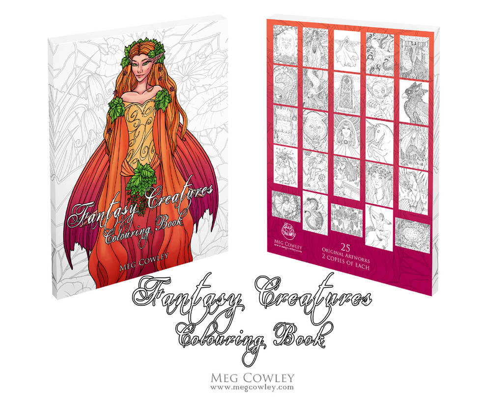 Fantasy Creatures Colouring Book