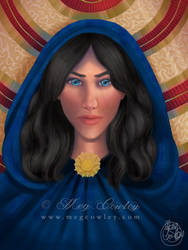 Sorceress (Fantasy Creatures Colouring Book)