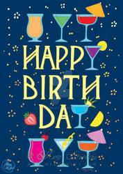 Happy Birthday - greetings card design