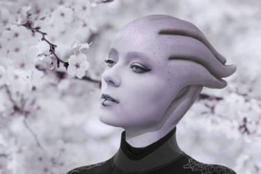 Pure Asari. Mass Effect. Wallpaper by MiraHinDo-Takomi