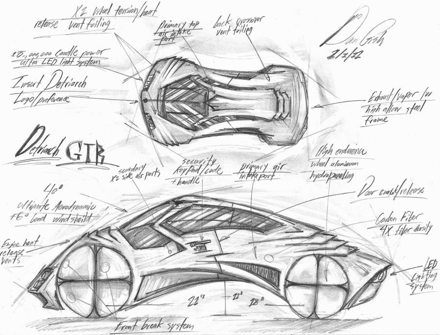 Concept Car Blueprint by RomanEdge on DeviantArt