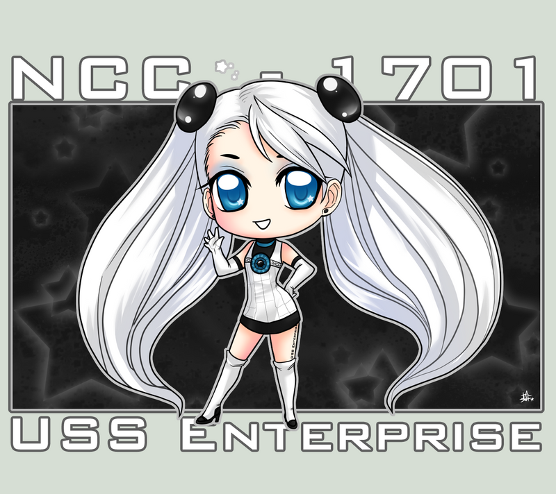 StarTrek: Lady Enterprise by ZombieDaisuke