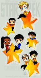 StarTrek: Chibi Stars by ZombieisOK