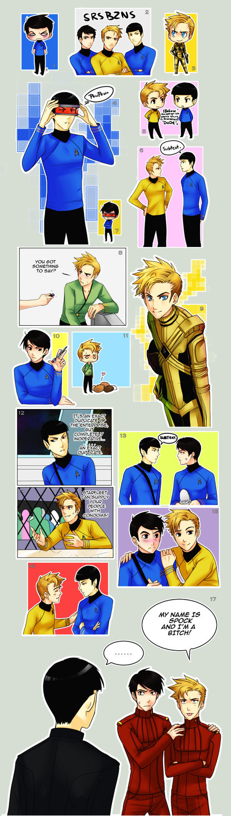 StarTrek: LOTS OF OT3 by ZombieDaisuke