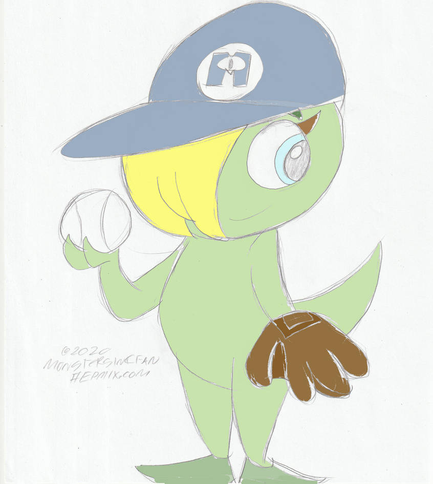Monsterincfan - Lucy's baseball Outfit Oct 2020