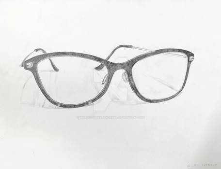 Intro to Drawing - Glasses sketch