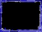 Simple Futuristic Border Design (Blue)