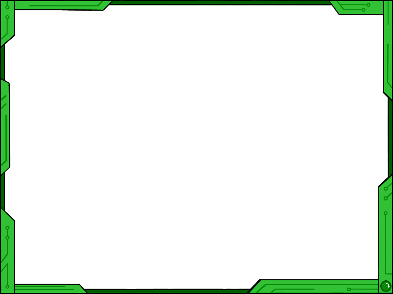 simple futuristic border design ver2 green by vahntreorr