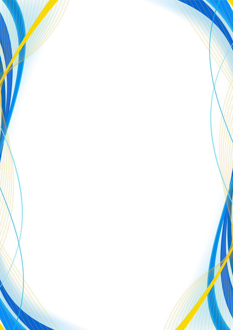blue and yellow border design - version 2