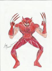 Red Lantern Logan by LuKarius