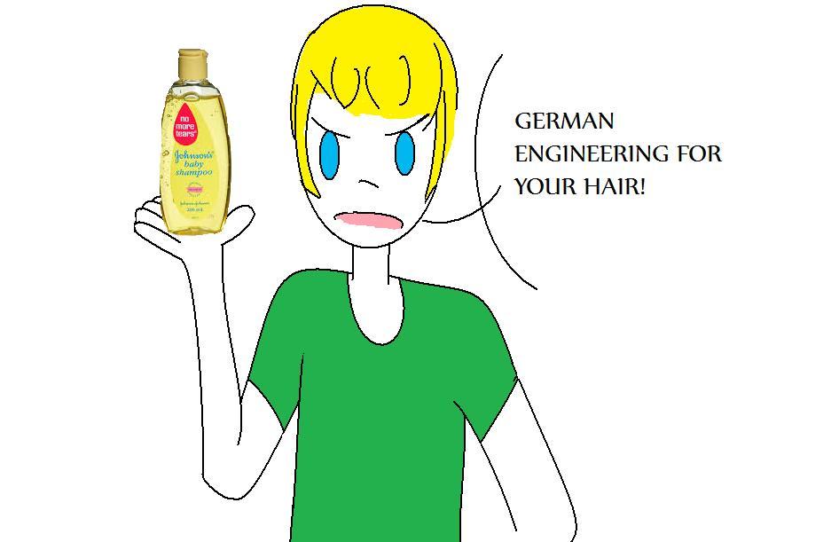 German hair engineering by ResidentEvilHetalia