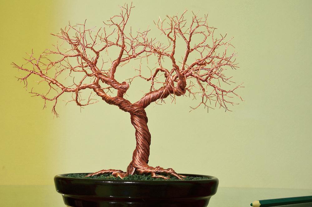 Дерево из медной проволоки своими руками