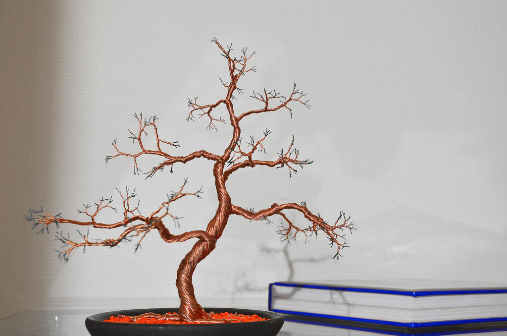 Wire tree sculpture by minskis on deviantart for How to make a wire tree of life sculpture