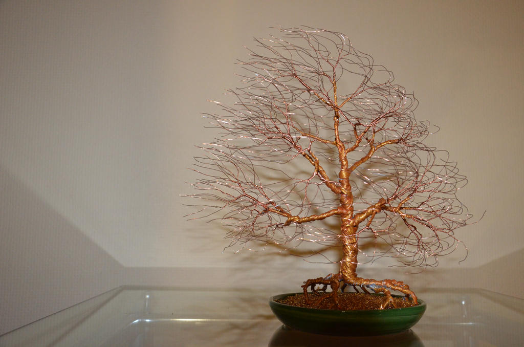 Wind swept wire tree sculpture by minskis on deviantart for How to make a wire sculpture