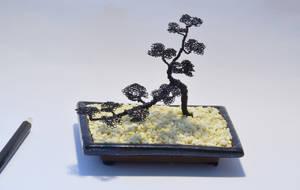 Wire tree sculpture cascade bonsai by minskis