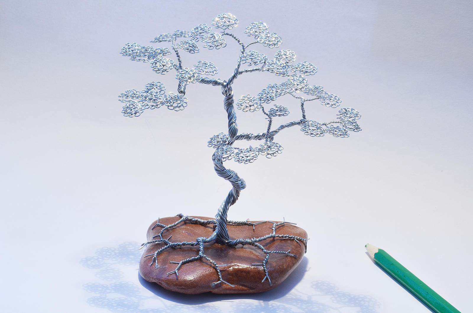 Wire tree sculpture bonsai by minskis on deviantart for How to make a wire sculpture
