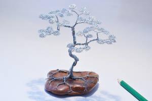 Wire tree sculpture  bonsai by minskis