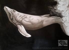 Inktober #4 - humpback whale by Pantiesaurus