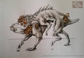 Inktober #12 - very gud boi by Pantiesaurus