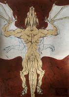 Inktober #16 - Dragon's back by Pantiesaurus