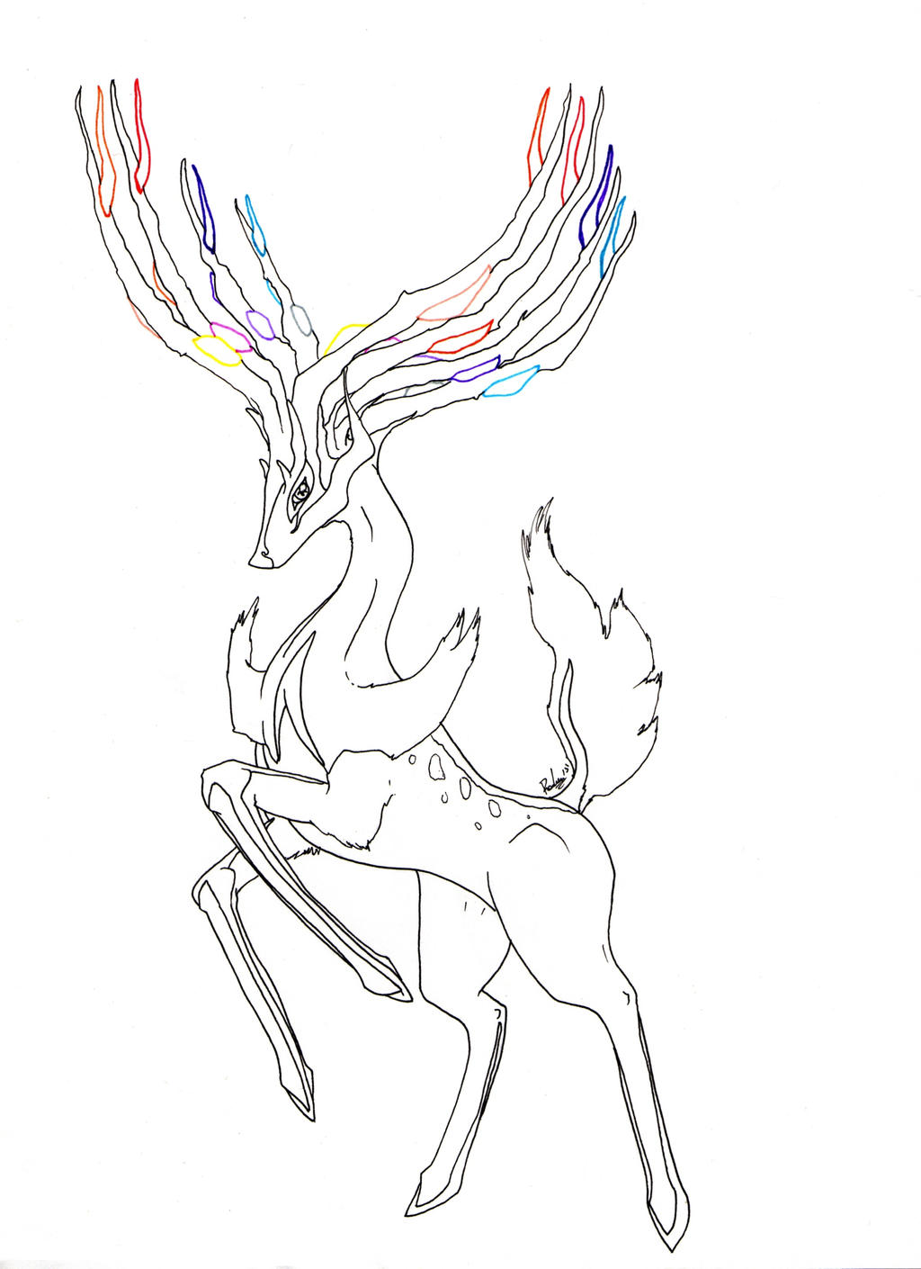 Xerneas By Radven On Deviantart Coloring Pages Xerneas
