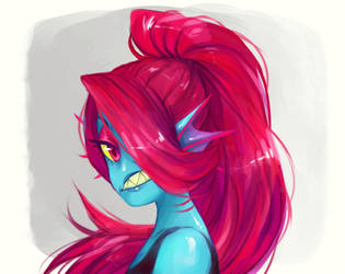 Undyne the Undying by TumbleweedFrenzy