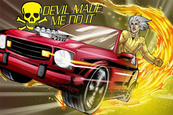 Commish : Flaming AMC car by wansworld