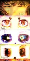 Undertale eyes by 1TheMidnightMoon1