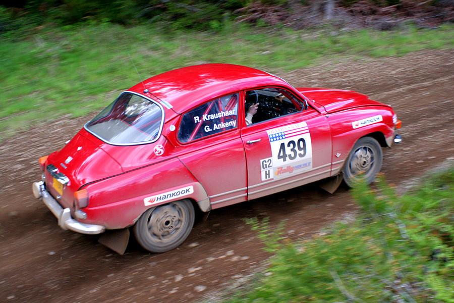 Garth's Saab at Olympus Rally by qmorley