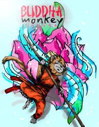 Buddha Monkey Poster by RogerPrice00x