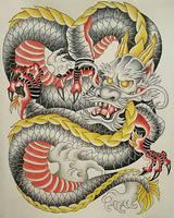 Copic Marker Dragon by edi19982
