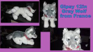 Gipsy gray wolf 12in by Vesperwolfy87