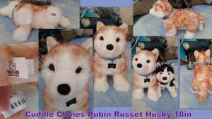 Cuddle Clones Rubin Russet Husky 18in