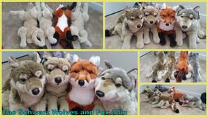 Fao Schwarz Wolves and Fox 18in by Vesperwolfy87