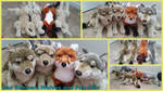 Fao Schwarz Wolves and Fox 18in