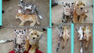 SOS Leosco Snow leopard and Lioness 18in