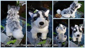 My Twinn Poseable Pets Husky 12in
