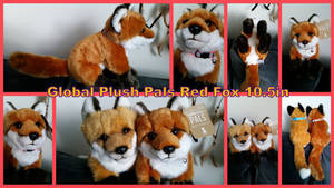 Global Plush Pals Red Fox 10.5in