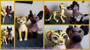 Disney Store lion Guard Fuli and Janja 13in