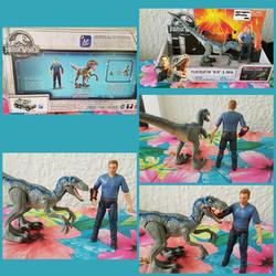 Mattel Jurassic World Raptor Blue and Owen Figures by Vesperwolfy87